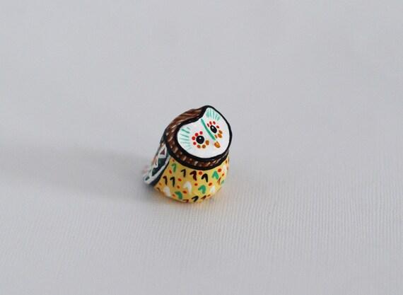 Owl Study 22 / Barn Owl Totem / Colorful / Geometric / Owl Figurine