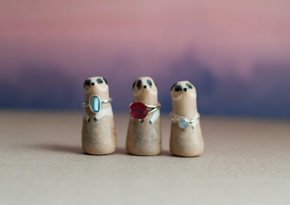 Meerkat Ring Holder | Ring Cone | Jewelry Organizer