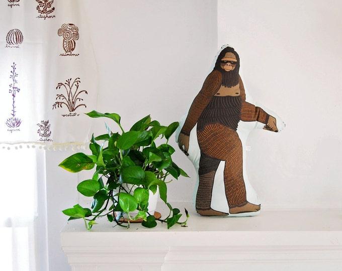 Bigfoot Plushie / Stuffed Animal / Sasquatch Pillow / Original Illustration