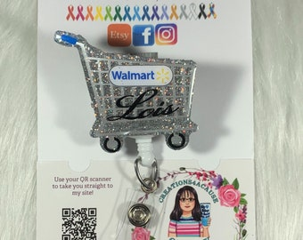 Personalized Shopping Cart Badge Reels