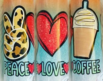 Peace Love Coffee 20 oz. sublimation insulated tumbler