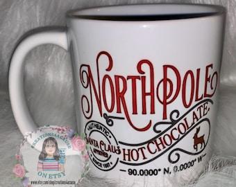 North Pole Hot Chocolate Mug 11 oz