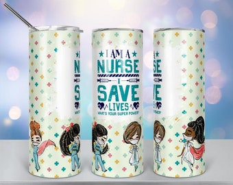 Nurselife Sublimation 20 oz Stainless Steel Insulated Tumbler