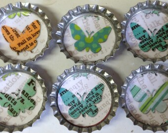 Set of 6 Butterfly Magnets