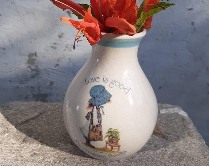 Holly Hobbie Vase 1978