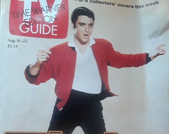 TV Guide August 1997 Elvis Presley cover