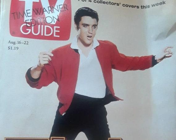 TV Guide August 1997 Elvis Presley cover