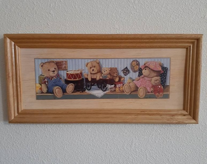 Bears in Toyland framed print