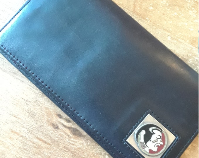 Mens Leather Wallet Florida State Noles