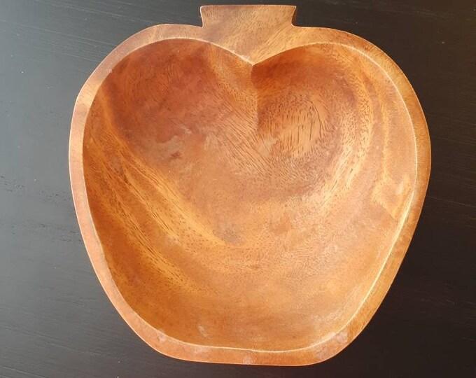 Wood Bowl Apple shaped