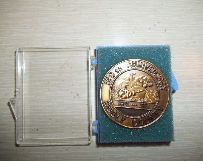 Georgia Dooley County Sesquicentennial 150th Anniversary gold round commemorative coin 1821-1971