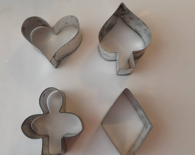 Poker cookie cutters vintage
