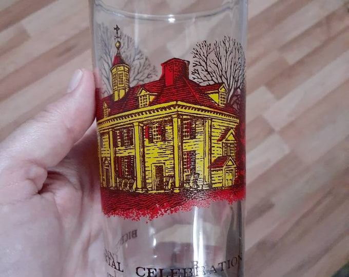 Bicentennial drinking glass