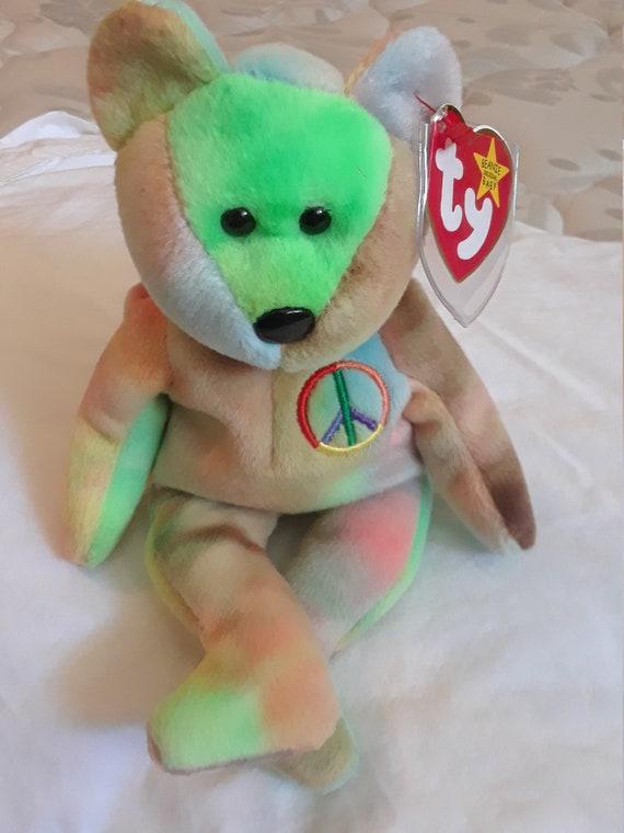 Beanie Baby Peace Bear 1996