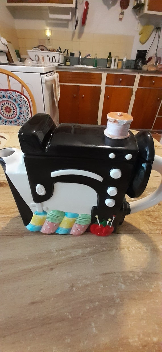 Sewing Machine Teapot