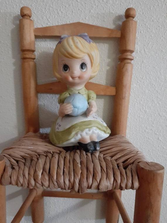 Blond girl figurine