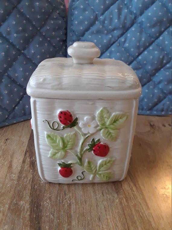 Sugar Bowl Strawberry Otagiri 1982