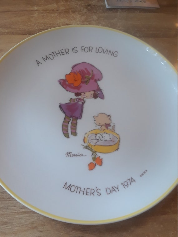 Mothers Day Plate Vintage Maria Commemorate Edition
