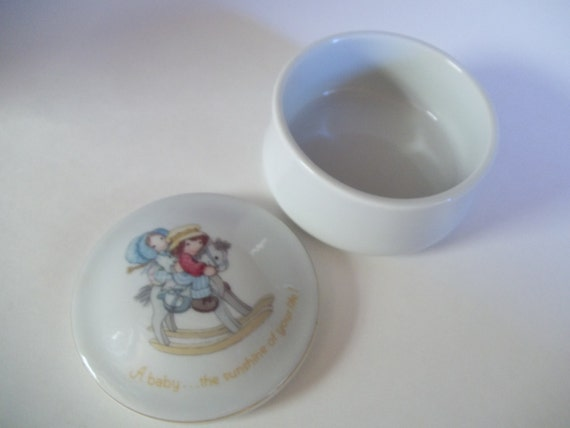 Baby Trinket Box Safety Diaper Pins rare collectible baby sunshine life