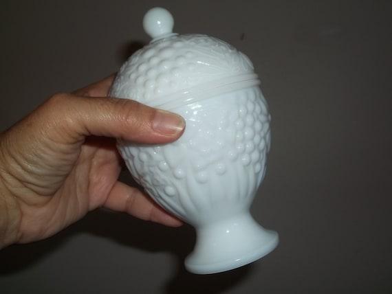 AVON MOONWIND Milk glass candle holder