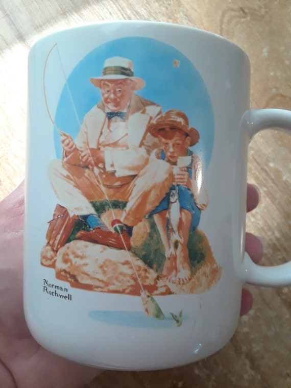 Norman Rockwell Mug Catching the Big One