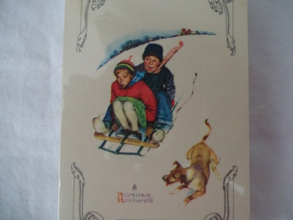 NORMAN ROCKWELL playing  cards vintage