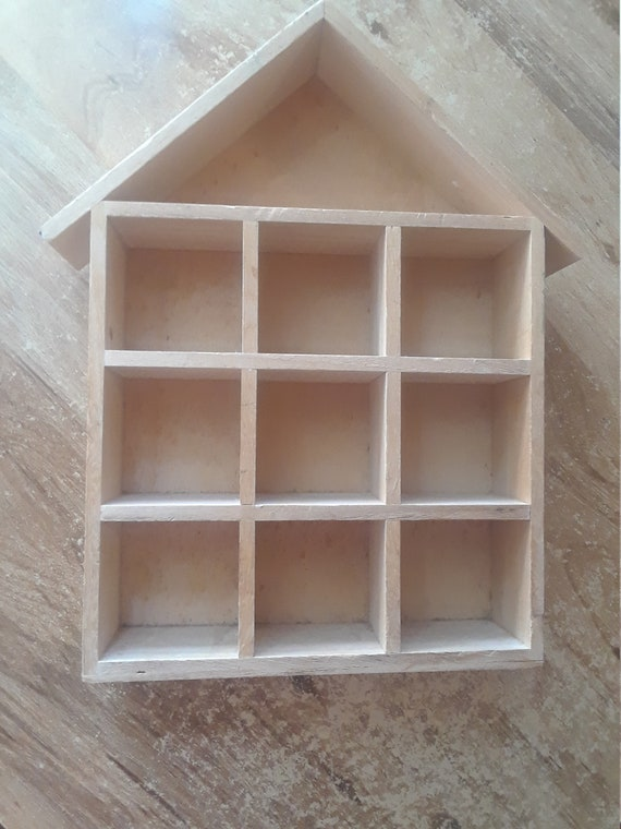 Miniature wood shelf