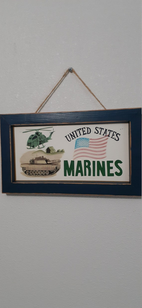 United States Marines Sign Wood Wall Hanging