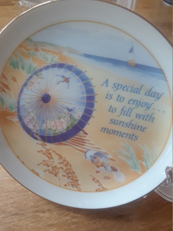 Decorative Plate Lasting Memories Beach umbrella