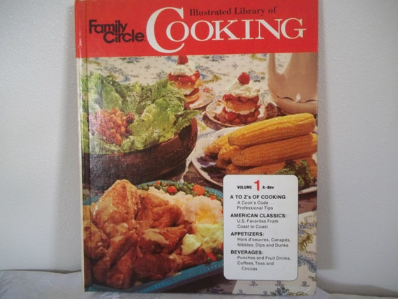 Vintage Cookbook Family Circle Illustrated Library of Cooking A to Zs of Cooking