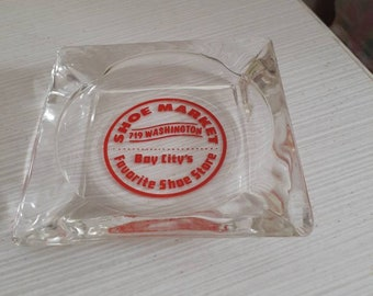 Glass Ashtray Vintage