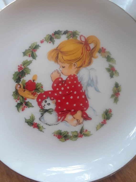 Jasco 1982 Christmas plate praying girl