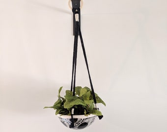 Petoskey Stone Pattern Hanging Planter