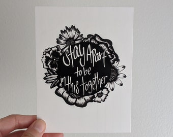 Stay Apart to be in this Together Post Card