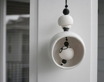 Black and White Ball Chime - Modern Design - Bell - Wind Chime