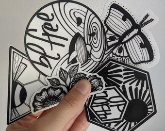 Free Hand drawn Vinyl Sticker
