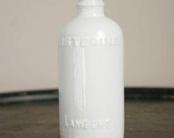 Listerine Raw Porcelain Table Vase - Porcelain - Replica - Slip Cast - Antique Bottle - Antique Listerine Bottle - White