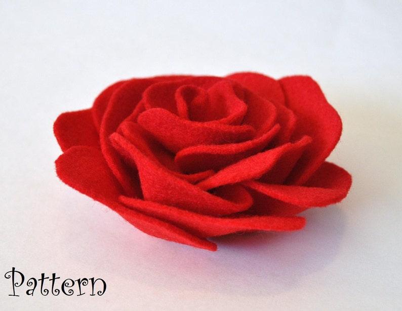 Flower Brooch Pdf Tutorial Headband Pattern Brooch Hair clip image 0