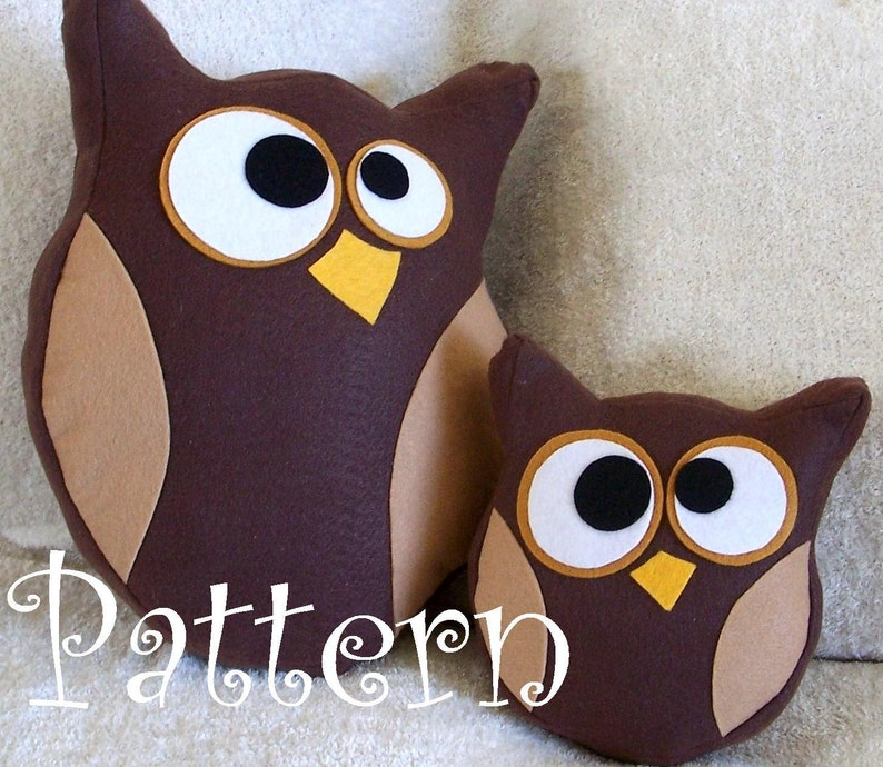 Owl Plush Pattern Set Hooter the Owl Tutorial and Printable image 0