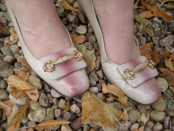 Herbert Levine Classic Pilgrim Shoes/1960s Mod/Mar