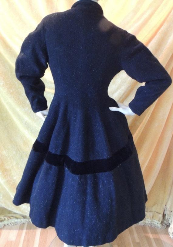 Lilli Ann Black Princess Velvet Wool Coat/EXCELLE… - image 4
