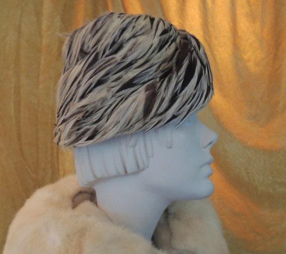 Andre Denis Paris Feather Hat/Vintage Feather Hat