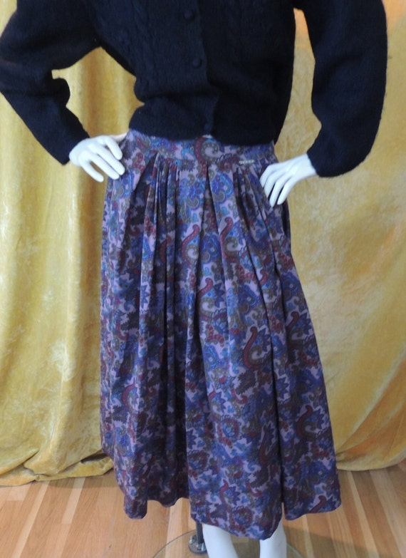 LXL Purple Paisley Skirt