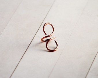 Beautiful Balance Adjustable  Wire Statement Ring, Avant Garde Jewelry, Womens Copper Ring Gift , Wearable Art, Art to Wear Ring SPRO251
