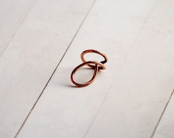Descender by APrideDesigns Copper Statement Ring Gift, Women's Statement Jewelry, Art to Wear Ring, Avant-Garde, Heirloom Jewelry  SPRF053