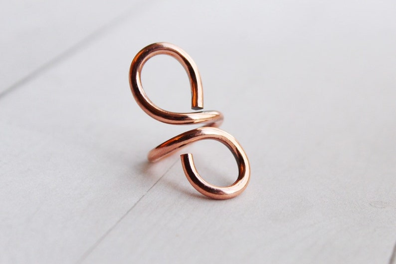 Forever Flame Copper Statement Ring Gift Women's image 0