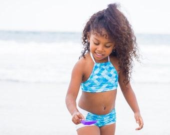 Mermaid Swimsuit - Mermaid Birthday Outfit - Girls Two Piece Swimsuit - Girls Swimsuit - Bikini Swimsuit - Little Mermaid Party - Swimwear