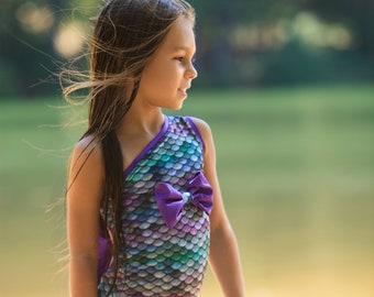 Mermaid Swimsuit - Little Mermaid Birthday - Mermaid Birthday Outfit - Girls One Piece Swimsuit - Swimsuits for Kids - Girls Swimsuit - Swim