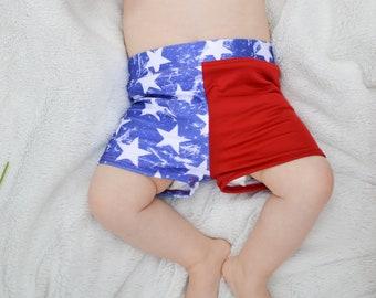 Boys 4th of July Swimsuit  - Boys Swim Shorts - Euro Style Swim Shorts - Bathing Suit - 4th of July Outfit - Boy Shorts - Swimming Shorts