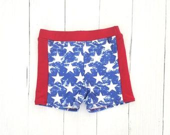 Boys Swim Trunks - 4th of July Swimsuit - Euro Swim Shorts - Boys Swimsuit - Swim Shorts for Boys - Toddler Swim Shorts - Swimsuit